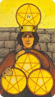 Four of Coins Tarot Card - Morgan-Greer Tarot Deck