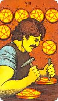 Eight of Pentacles Tarot Card - Morgan-Greer Tarot Deck