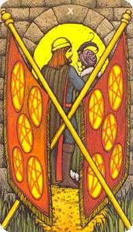 Ten of Stones Tarot Card - Morgan-Greer Tarot Deck