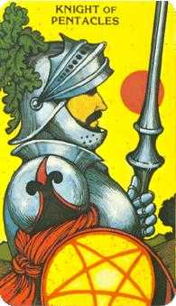 Knight of Discs Tarot Card - Morgan-Greer Tarot Deck