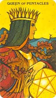 Queen of Coins Tarot Card - Morgan-Greer Tarot Deck
