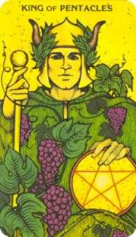 Roi of Coins Tarot Card - Morgan-Greer Tarot Deck
