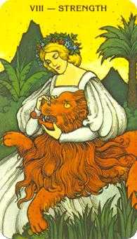 Strength Tarot Card - Morgan-Greer Tarot Deck
