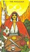 The Magician Tarot card in Morgan-Greer deck