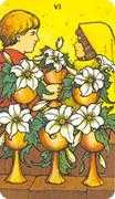 Six of Cups Tarot card in Morgan-Greer deck