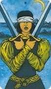 Two of Swords Tarot card in Morgan-Greer deck
