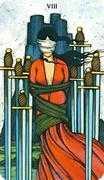 Eight of Swords Tarot card in Morgan-Greer Tarot deck
