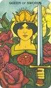 Queen of Swords Tarot card in Morgan-Greer deck