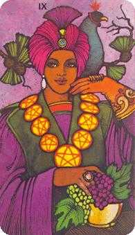 Nine of Coins Tarot Card - Morgan-Greer Tarot Deck