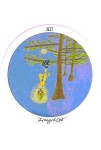 The Hanged Man Tarot Card - Motherpeace Tarot Deck