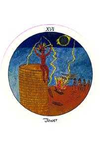 The Blasted Tower Tarot Card - Motherpeace Tarot Deck