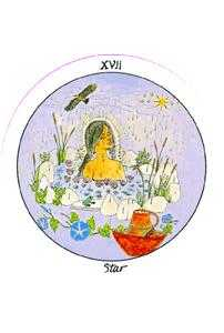 The Star Tarot Card - Motherpeace Tarot Deck