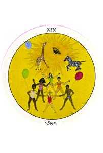 The Sun Tarot Card - Motherpeace Tarot Deck