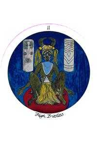 The High Priestess Tarot Card - Motherpeace Tarot Deck
