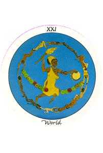 The World Tarot Card - Motherpeace Tarot Deck