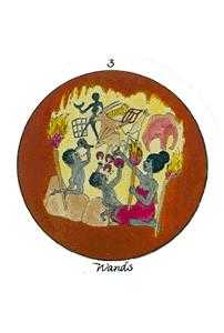 Three of Fire Tarot Card - Motherpeace Tarot Deck