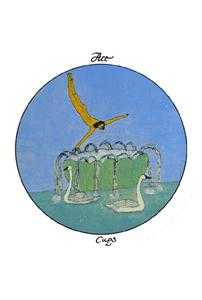 Ace of Water Tarot Card - Motherpeace Tarot Deck