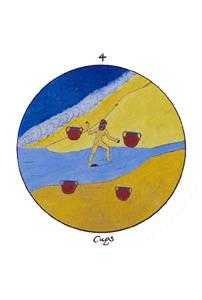 Four of Bowls Tarot Card - Motherpeace Tarot Deck