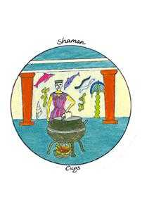 Shaman of Cups Tarot Card - Motherpeace Tarot Deck