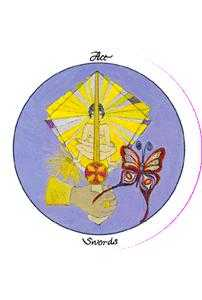 Ace of Wind Tarot Card - Motherpeace Tarot Deck