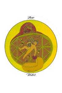 Ace of Discs Tarot Card - Motherpeace Tarot Deck