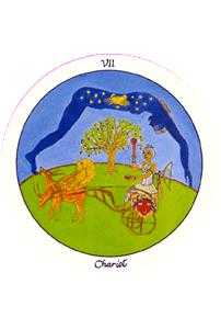 The Chariot Tarot Card - Motherpeace Tarot Deck
