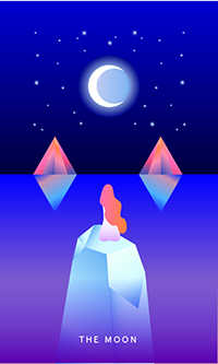 The Moon Tarot Card - Mystic Mondays Tarot Deck