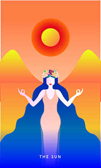 The Sun Tarot Card - Mystic Mondays Tarot Deck