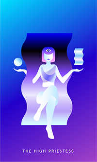 The High Priestess Tarot Card - Mystic Mondays Tarot Deck