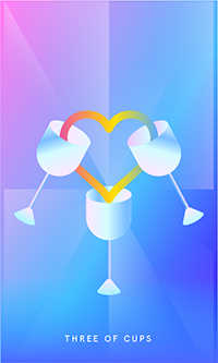Three of Cups Tarot Card - Mystic Mondays Tarot Deck