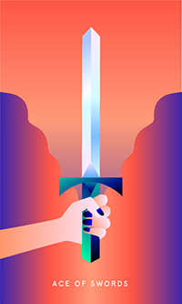 Ace of Swords Tarot Card - Mystic Mondays Tarot Deck