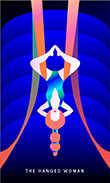 The Hanged Man Tarot card in Mystic Mondays Tarot deck