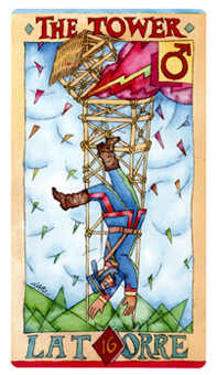 The Falling Tower Tarot Card - Napo Tarot Deck
