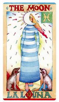 The Moon Tarot Card - Napo Tarot Deck