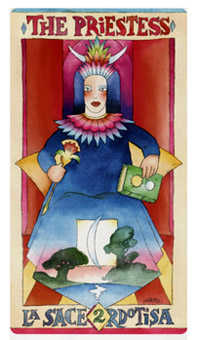 The High Priestess Tarot Card - Napo Tarot Deck