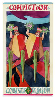 Four of Rods Tarot Card - Napo Tarot Deck