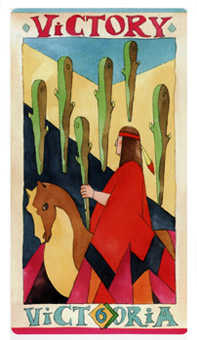 Six of Rods Tarot Card - Napo Tarot Deck