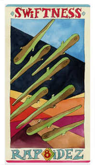 Eight of Rods Tarot Card - Napo Tarot Deck