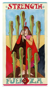 Nine of Batons Tarot Card - Napo Tarot Deck