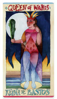 Queen of Batons Tarot Card - Napo Tarot Deck