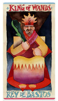King of Staves Tarot Card - Napo Tarot Deck