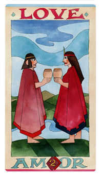 Two of Hearts Tarot Card - Napo Tarot Deck