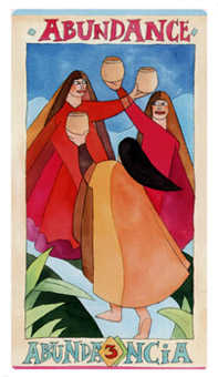 Three of Bowls Tarot Card - Napo Tarot Deck