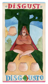 Four of Cauldrons Tarot Card - Napo Tarot Deck