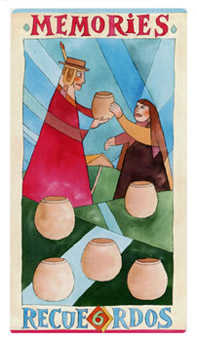 Six of Cups Tarot Card - Napo Tarot Deck