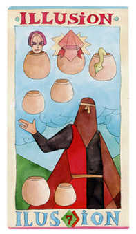 Seven of Cups Tarot Card - Napo Tarot Deck