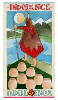 Eight of Bowls Tarot Card - Napo Tarot Deck