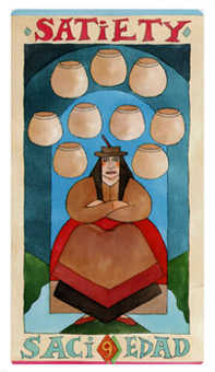 Nine of Bowls Tarot Card - Napo Tarot Deck
