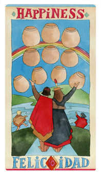 Ten of Hearts Tarot Card - Napo Tarot Deck