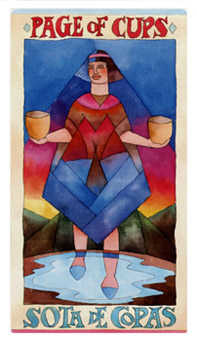 Page of Hearts Tarot Card - Napo Tarot Deck